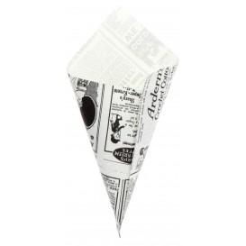 """Papieren voedsel kegel Vetvrij """"Times"""" 20cm 70g (250 stuks)"""