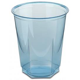 Plastic PS beker Kristal Zeshoekige vorm turkoois 250ml (250 stuks)