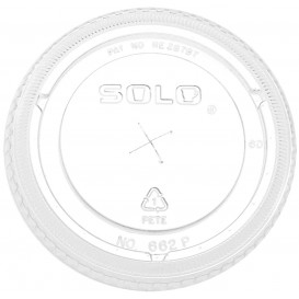 Plastic platte Deksel met kruis PET kristal Ø9,2cm (100 stuks)