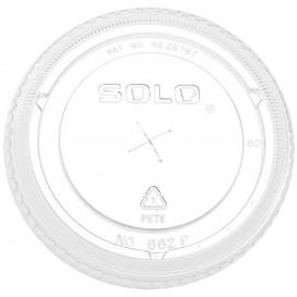 Plastic platte Deksel met kruis PET kristal Ø9,2cm (1.000 stuks)