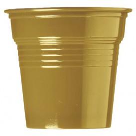 Plastic PS Shotje goud 80ml Ø5,7cm (750 stuks)