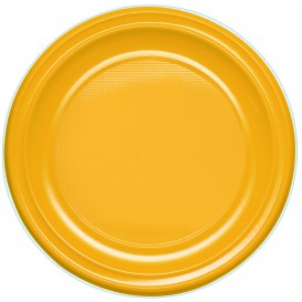 Plastic bord PS Diep mango 22 cm (600 stuks)