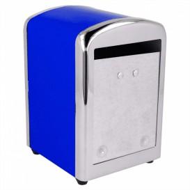"""Servet van staal dispenser""""Miniservis"""" blauw 10,5x9,7x14cm (1 stuk)"""