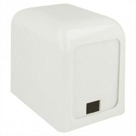 """Servet plastic dispenser """"Miniservis"""" wit 15x10x12,5cm (12 stuks)"""