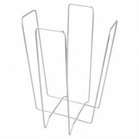 Draad servet houder zilver 22x22x18cm (12 stuks)