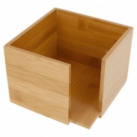 Bamboe Servet houder 13,5x13,5x10cm (12 stuks)