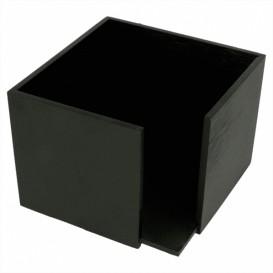 Bamboe Servet houder zwart 13,5x13,5x10cm (12 stuks)