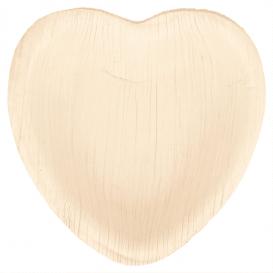 Plato Corazón Hoja de Palma 10x10x1,5cm (200 Uds)