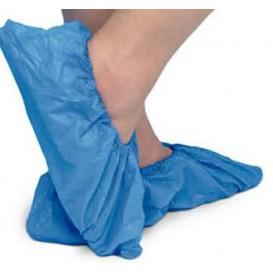 Wegwerp plastic schoen omhulsel met versterking van de tong TST PP CPE blauw (500 stuks)