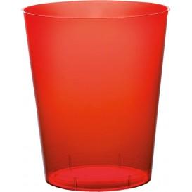 Vaso de Plastico Moon Rojo Transp. PS 350ml (20 Uds)