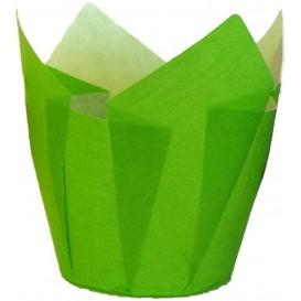 Cápsula Muffin Tulipa Antigrasa 72 mm Verde (2160 Uds)