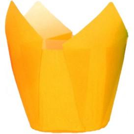 Cápsula Muffin Tulipa Antigrasa 72 mm Amarillo (2160 Uds)