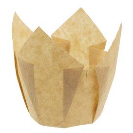Cupcake vorm voering tulpvorm Nature Ø5x4,2/7,2cm (135 stuks)