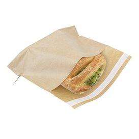 Papieren voedsel zak Autoseal kraft 21x17cm (100 stuks)