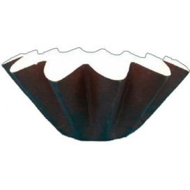 Bakvorm van papier bruin Ø8x6,5 cm (165 stuks)