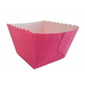 Bakvorm van papier Vierkant paars Ø4,2x3,7 cm (1500 stuks)