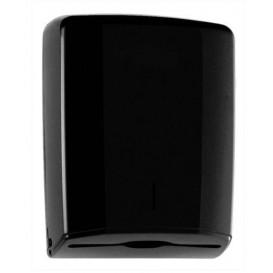 Plastic handdoek dispenser ABS Elegance zwart (1 stuk)