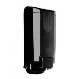 Plastic zeep dispenser ABS zwart 1000ml (1 stuk)
