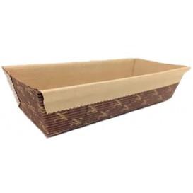 Bakvorm van papier kraft 24x8x7cm (40 stuks)