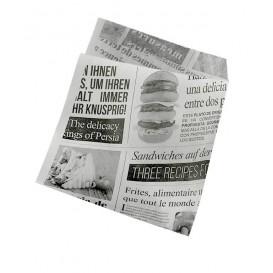 """Papieren voedsel zak Vetvrij Opened 2L """"News"""" 15x16cm (250 stuks)"""
