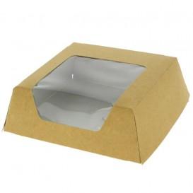 Caja de Carton Kraft con Ventana 120x120x40mm (500 Uds)