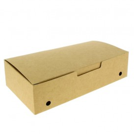Caja Comida para Llevar Grande Kraft 200x100x50mm (375 Uds)
