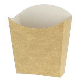 Papieren Container voor frietenkraft klein maat 8,2x2,2x9cm (25 stuks)
