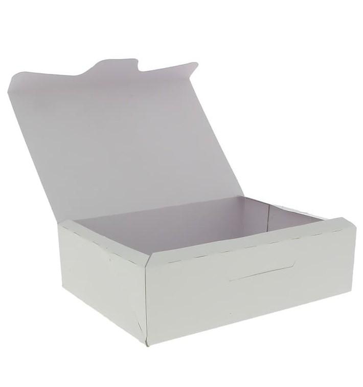 Gebakdoos karton Witte 500g wit 18,2x13,6x5,2cm (25 stuks)