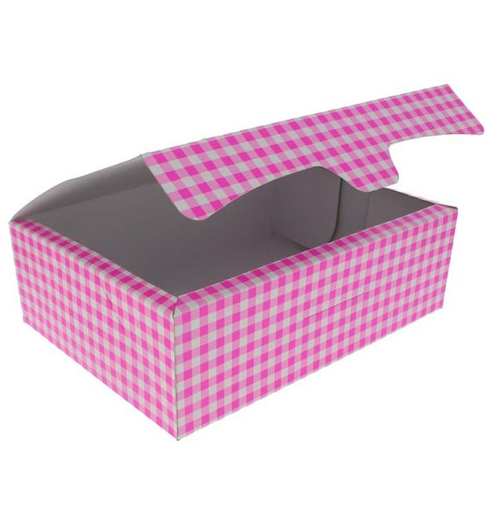 Papier bakkerij doos roze 25,8x18,9x8cm 2Kg (125 stuks)