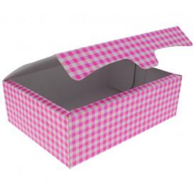 Papier bakkerij doos roze 25,8x18,9x8cm 2Kg (25 stuks)
