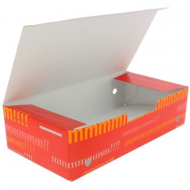 Papieren take-out doos groot maat 2,00x1,00x0,50cm (375 stuks)