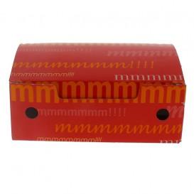 Papieren take-out doos klein maat 1,15x0,72x0,43cm (25 stuks)