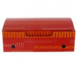 Papieren take-out doos medium maat 1,45x0,90x0,45cm (450 stuks)