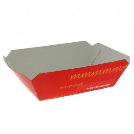 Kartonnen Snackbakjes 250ml 9,6x6,5x4,2cm (25 stuks)