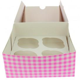 Papieren Cake vorm zak 4 Slots roze 17,3x16,5x7,5cm (140 stuks)