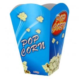 Papieren Popcorn doosje groot maat 150gr 8,7x13x20,3cm (25 stuks)