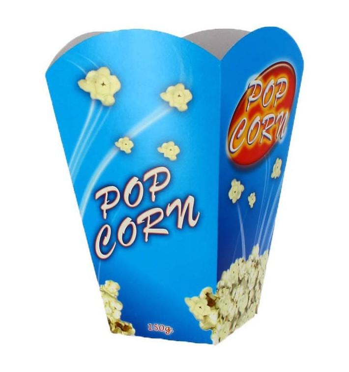 Papieren Popcorn doosje groot maat 150gr 8,7x13x20,3cm (250 stuks)