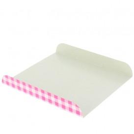 Papieren dienblad voor wafel roze 15x13cm (100 stuks)