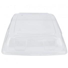 Plastic PET Deksel transparant 31x31cm (5 stuks)