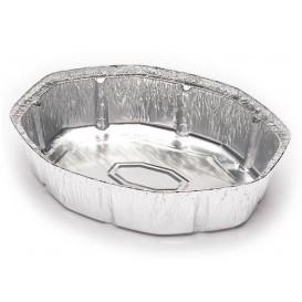 Folie pan voor gebraden kip Ovaal vormig 1900ml (500 stuks)