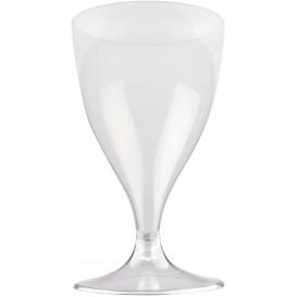 Copa de Plastico Vino con Pie Transparente 200ml (20 Uds)