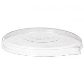 Plastic Deksel Composteerbaar PLA transparant voor Kom 355 en 470ml (50 stuks)