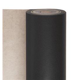 Papieren rol van inpakpapier kraft zwart 100m (1 stuk)