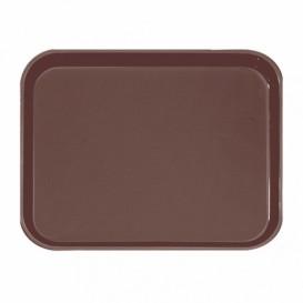 Plastic dienblad Non-Slip bruin 51,0x38,0cm (12 stuks)