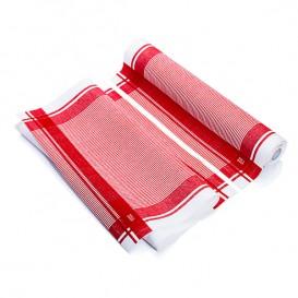 "Vaatdoek rol ""Roll Drap"" Vintage rood 40x64cm P40cm (200 stuks)"