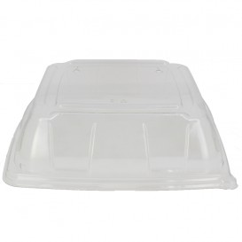 Plastic PET Deksel transparant 27x27cm (5 stuks)