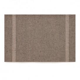 """Katoenen placemat """"Daen Drap"""" donker bruin 32x45cm (12 stuks)"""
