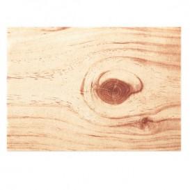 "Katoenen placemat ""Daen Drap"" hout 32x45cm (12 stuks)"