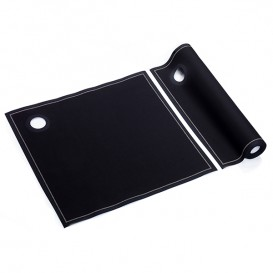 Katoenen doeken ijsemmers zwart 40x40cm P40cm (12 stuks)