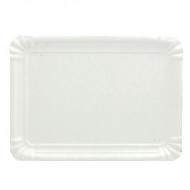 Papieren dienblad Rechthoekige vorm wit 12x19 cm (1.500 stuks)